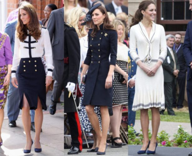 """Kate Middleton looks stylish in Nautical"""