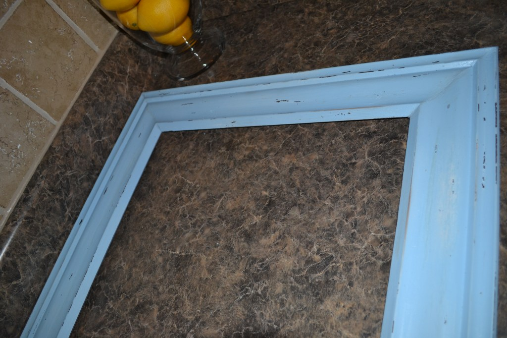 """Distress Picture Frame with Sandpaper"""