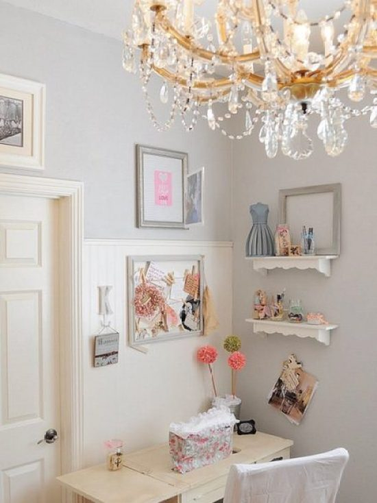 """Shabby Chic Home Office"""