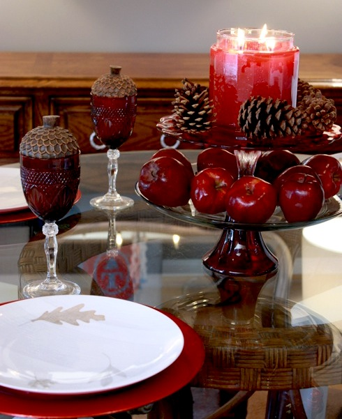 fall scented candle centerpiece Decorate Your Home For Fall