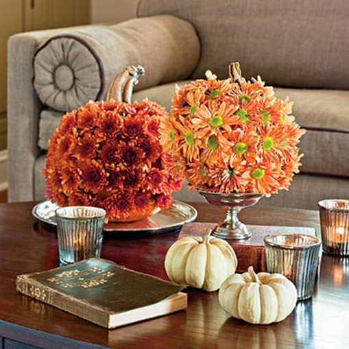 mums as pumpkins centsational girl Decorate Your Home For Fall