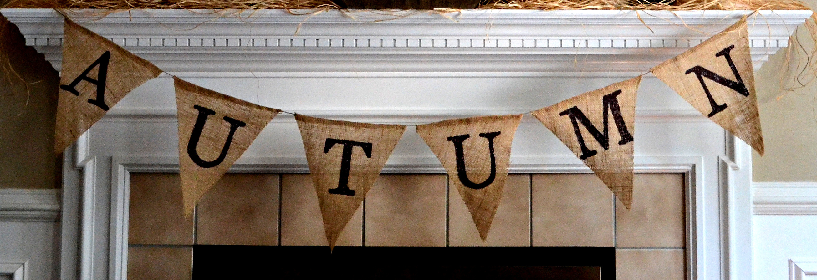 DIY Burlap Pennant Banner | My Love of Style – My Love of Style