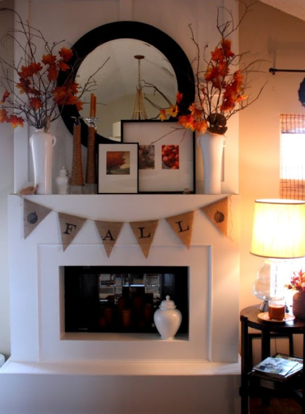 Fall Mantle with Pennant Banner