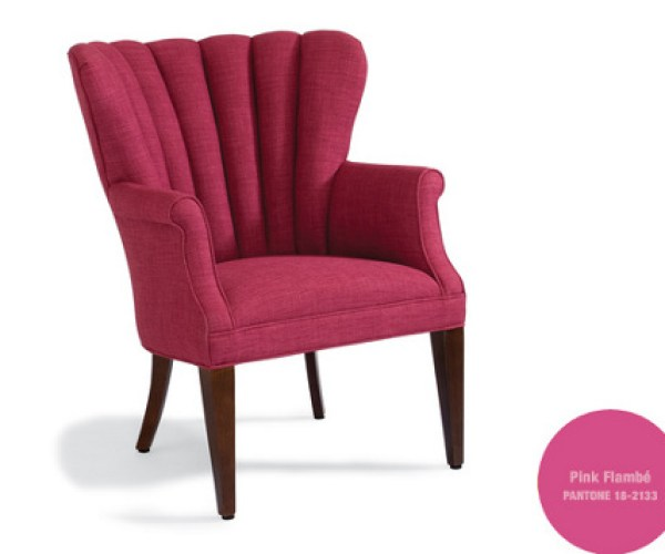 """Pink Flambe Chair"""