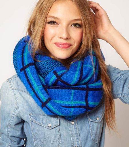 """Plaid Snood Scarf"""