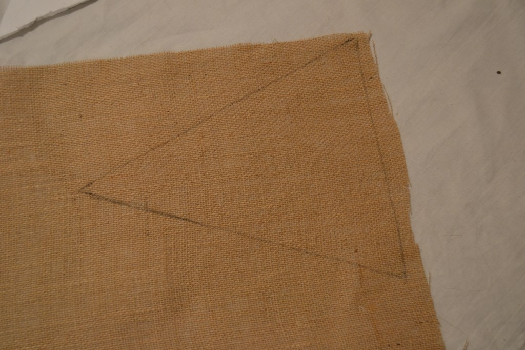 """Draw Pennant on Burlap"""