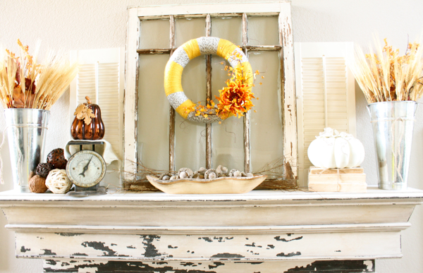 Shabby Chic Fall Mantle