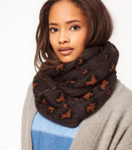 """Printed Knit Snood Scarf"""