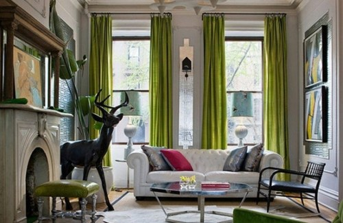 """Bright Chartreuse Curtains"""