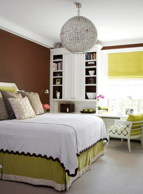 """bright chartreuse bedroom"""