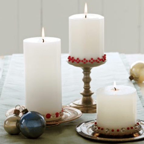 """Decorate Candles with Upholstery Tacks"""