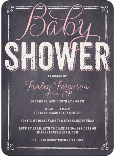 """Baby board Baby Shower Invitation"""