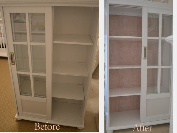 """Bookshelf Before and After"""