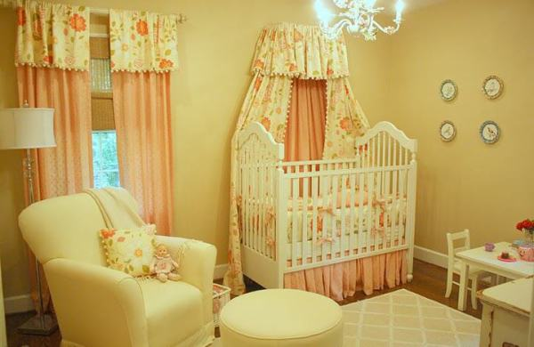 """Pink and Gold Crib Canopy"""