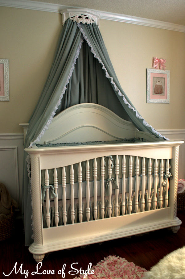 diy bed crown and crib canopy tutorial my love of style