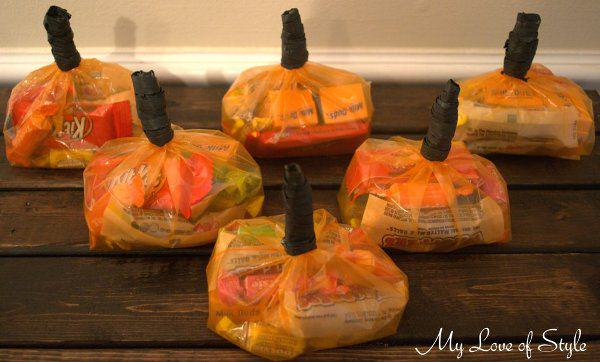 DIY Pumpkin Treat Bags