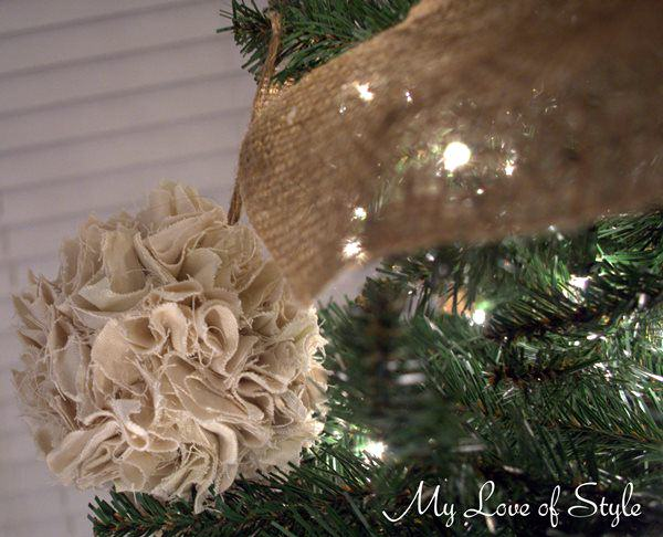 DIY Rustic Pom Ornament