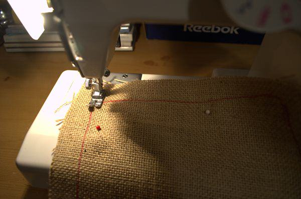sew stocking together