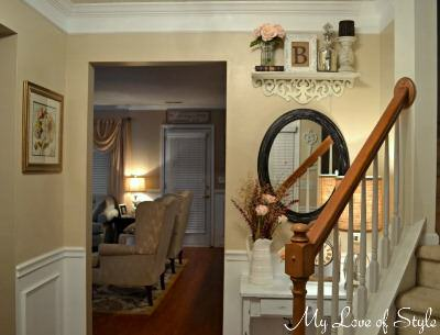 shabby chic foyer makeover
