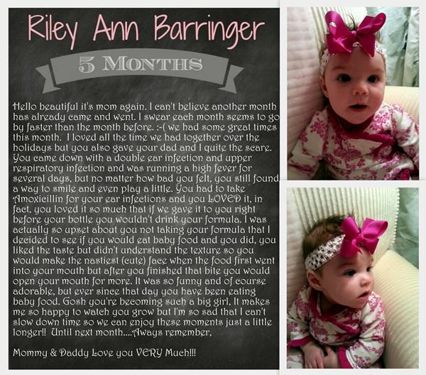 Baby Riley at 5 Months