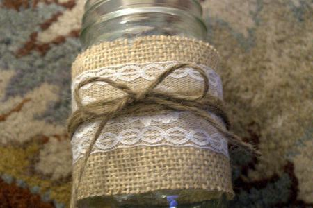 Wrap Twine around Jar and tie in bow