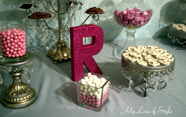 """DIY Glittered Letter Tutorial"""
