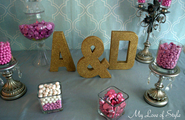"""DIY Glittered Letters"""