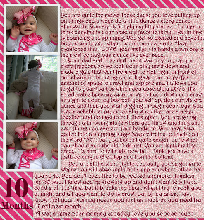 Riley's Note at 10 Months