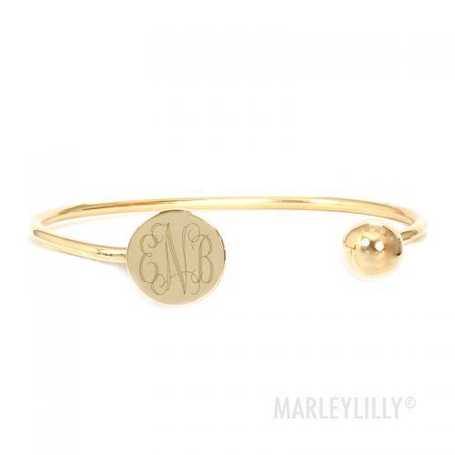 Engraved MOnogram Bangle