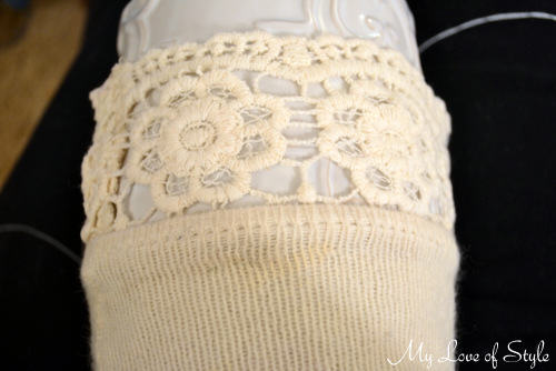 Easy Lace Trim Boot Sock Tutorial