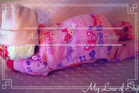 DIY Sleeping Baby Diaper Cake