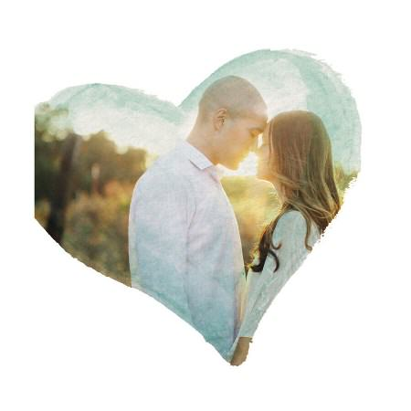 Custom Photo Art - Watercolor Heart