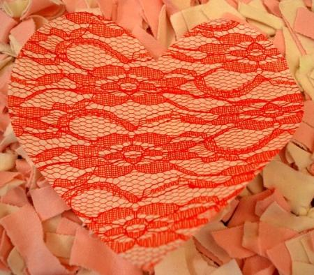 Cut out your lace heart