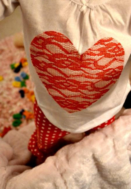 Red Lace Heart Shirt