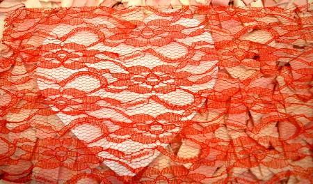 Measure Lace for Lace Heart
