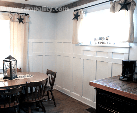 Wainscoting using Upcycled Pallets