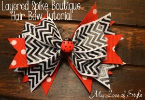 DIY Layered Spike Boutique Hair Bow