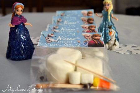 Snowman Frozen Party Favors