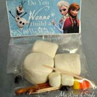 Do You Wanna Build A Snowman Party Favors