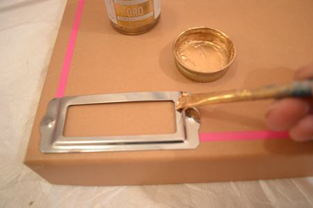 Paint Bookplate with liquid gilding