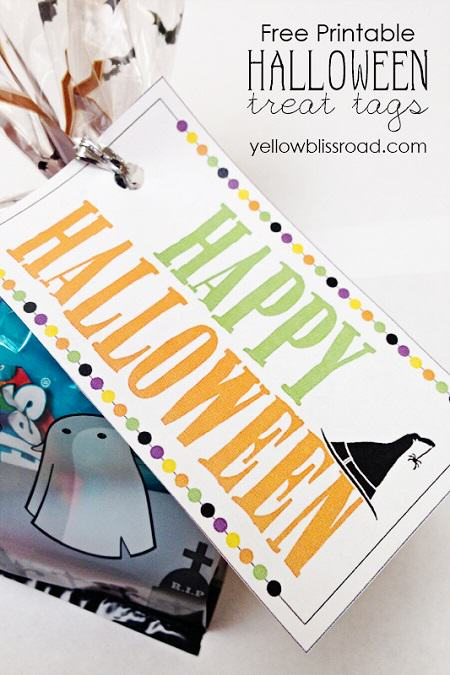 Free Halloween Printable Favor Tag