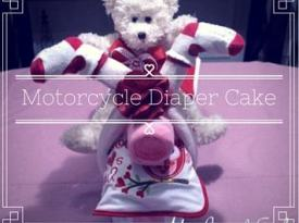 DIY Motorcycle Diaper Cake