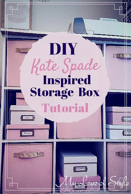 Beau ... Kate Spade Inspired Storage Box Tutorial