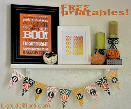 Free Halloween Printable Art and Banner