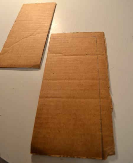 cut even pieces of cardboard