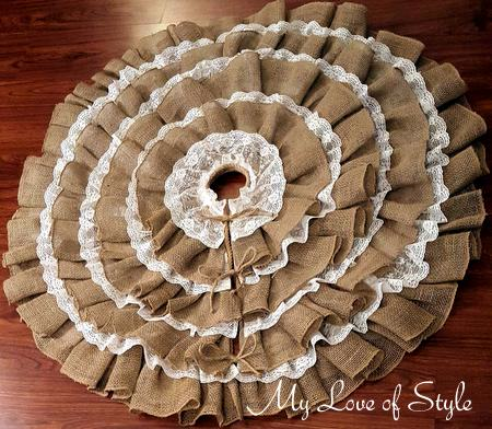 DY Burlap and Lace Tree Skirt