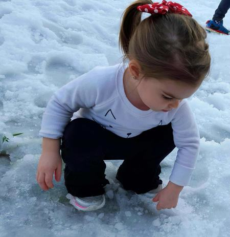 riley playing in the ice