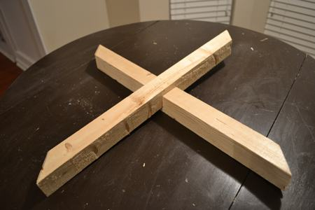 Make X with wood Panels