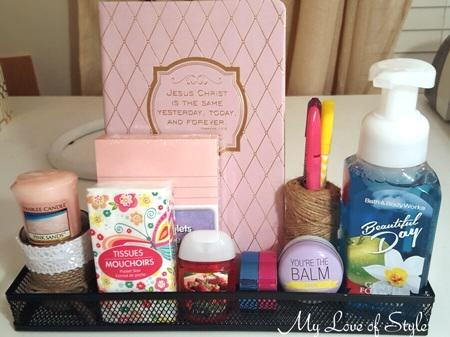 Place Teacher's gifts in a storage organizer