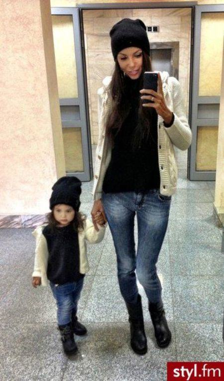 mommy and me jeans, tee and cardigan